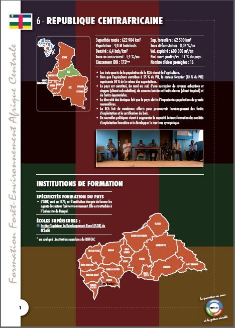 Cartographie des Formations en République Centrafricaine