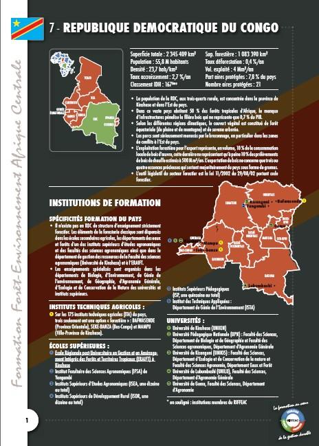 Cartographie des formations en République Démocratique du Congo - RDC