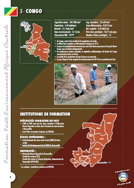 Cartographie des formations au Congo